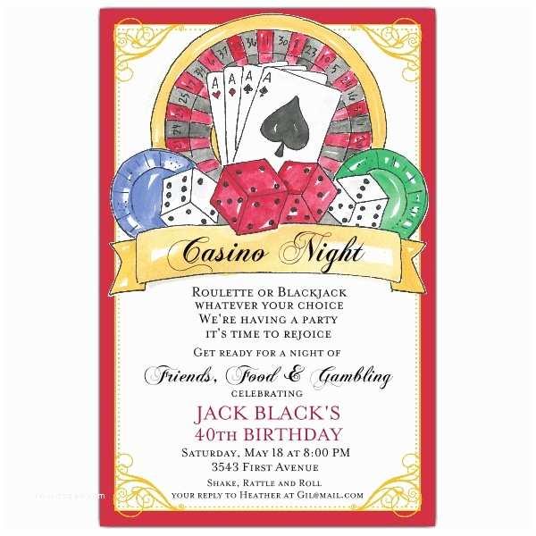 Casino themed Wedding Invitations Casino Party Invitations – Gangcraft