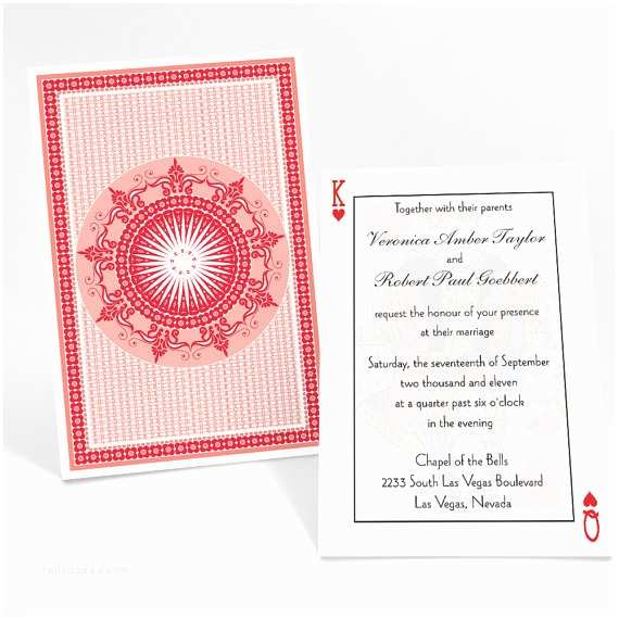 Casino themed Wedding Invitations Casino theme Invitation Suite Playing Cards Poker by