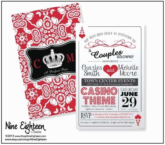 Casino themed Wedding Invitations Casino themed Wedding Invitations