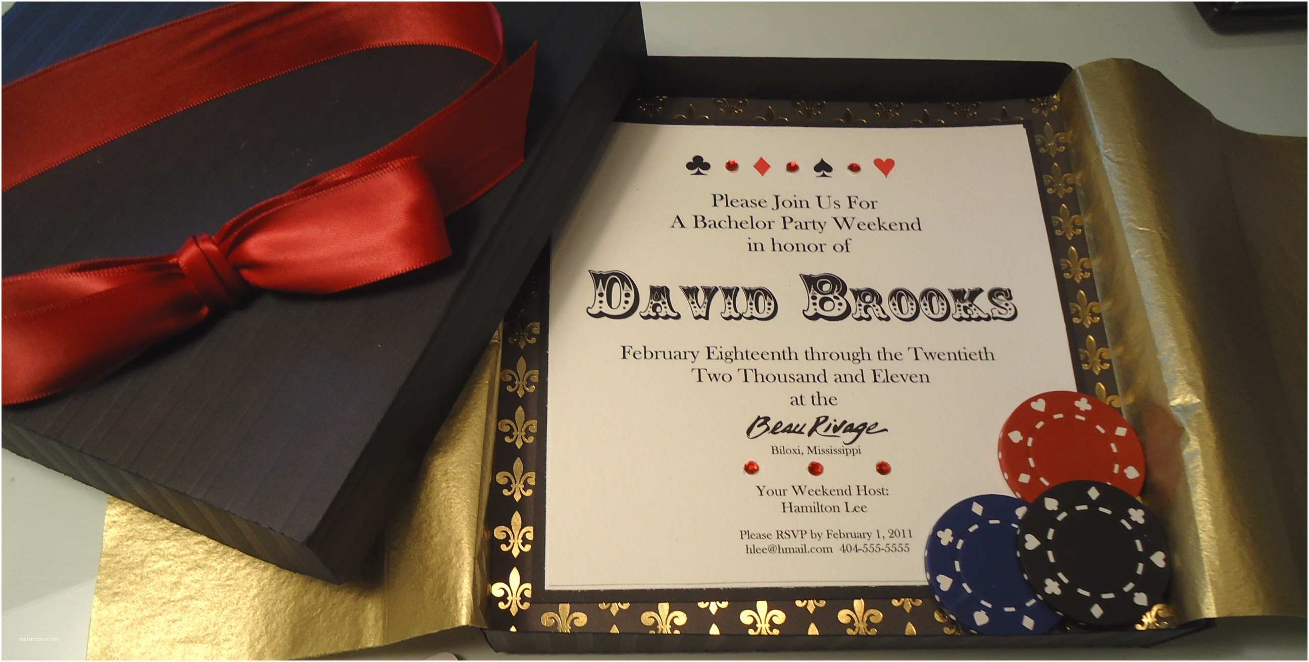 Casino themed Wedding Invitations Invitations – Artistically Yours
