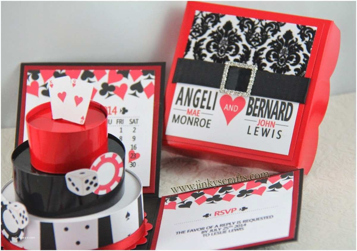Casino themed Wedding Invitations Jinky S Crafts & Designs Las Vegas Casino themed Wedding