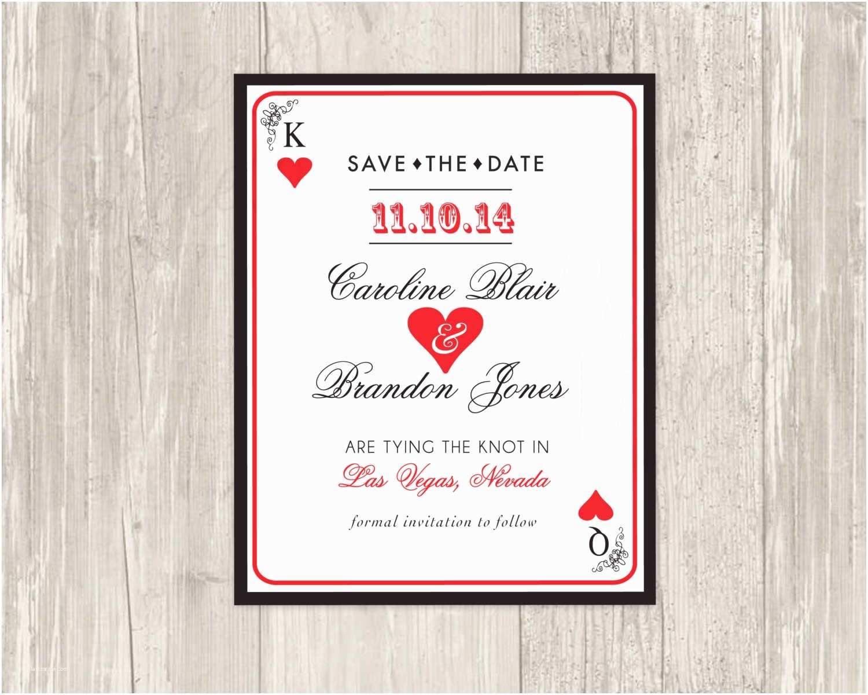 Casino themed Wedding Invitations Las Vegas Save the Date Printable Las Vegas theme