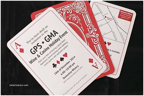 Casino themed Wedding Invitations Playing Card Wedding Invitationscreative by Me