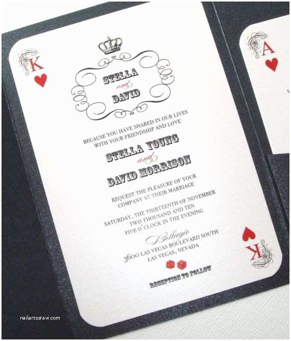 Casino themed Wedding Invitations the Vegas Wedding Beach Weddings and Jinkys Crafts