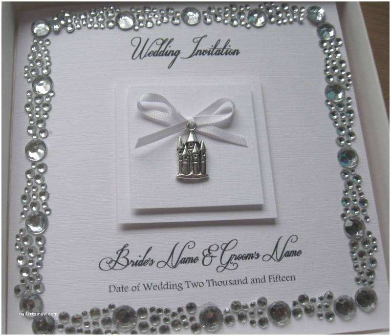 Castle themed Wedding Invitations Luxury Fairytale Castle themed Wedding Invitation Gem