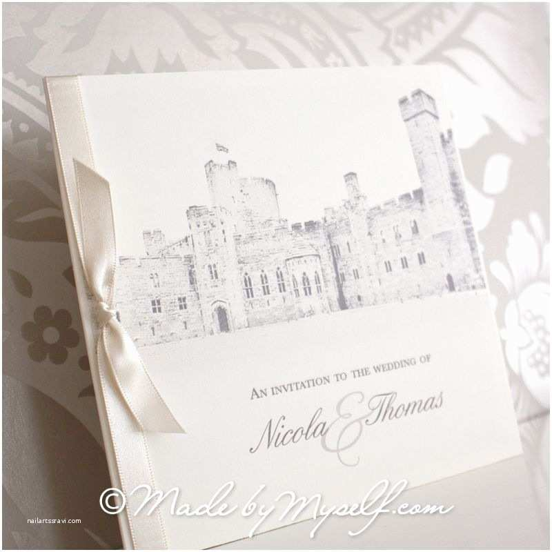 Castle themed Wedding Invitations Peckforton Castle Pocketfold Wedding Invitation Includes
