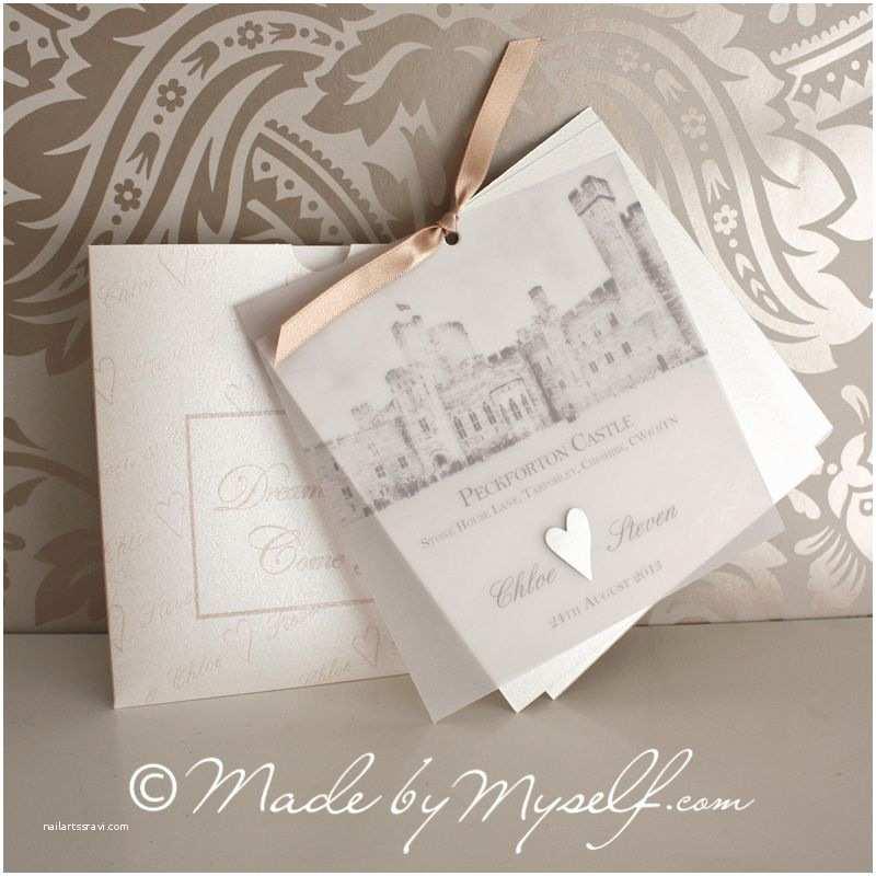 Castle themed Wedding Invitations Peckforton Castle Wedding Invitation
