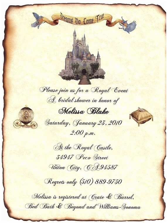 Castle themed Wedding Invitations Qty 75 Cinderella Fairytale Castle Wedding Invitation by