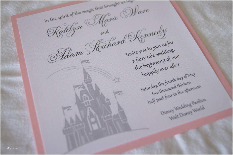 Castle Wedding Invitations Custom Fairytale Castle Wedding Invitation Sample