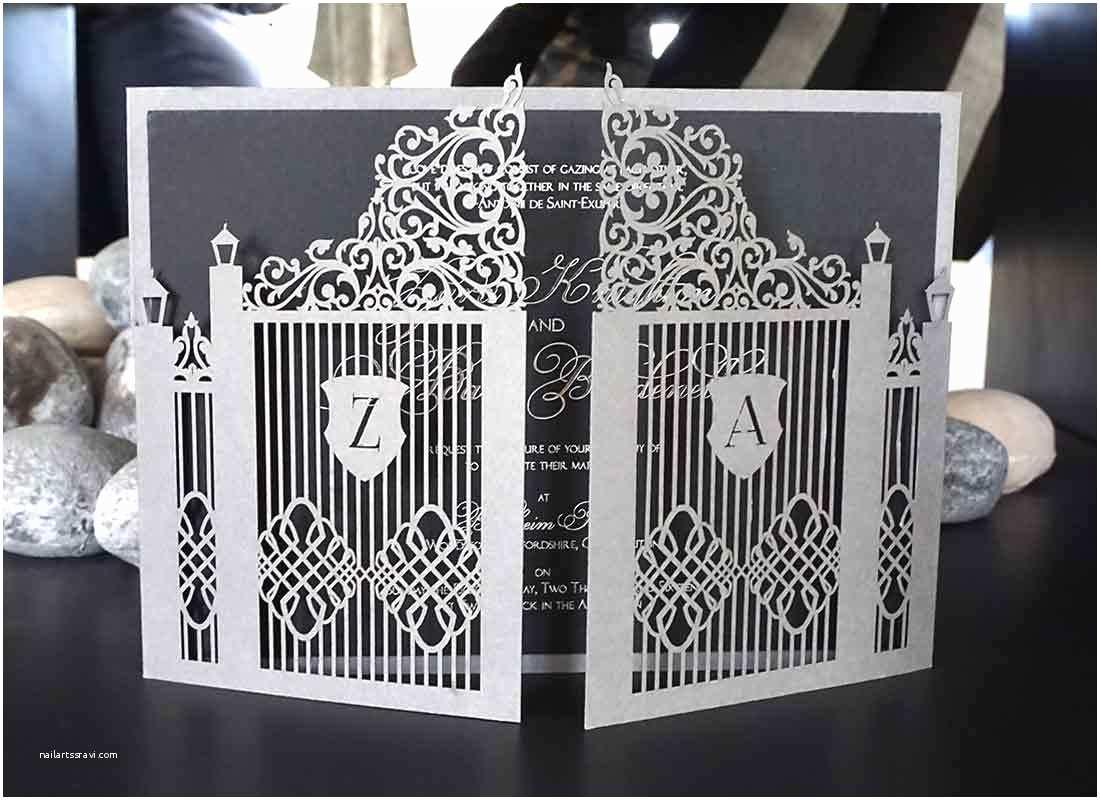 Castle Wedding Invitations Design Bespoke Laser Cut Wedding Invitations Uk