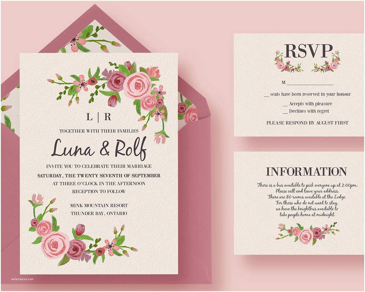 wedding invitation design 2