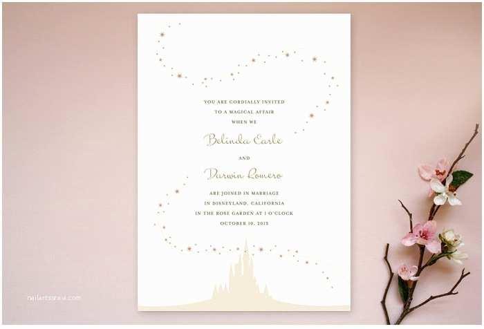 Castle Wedding Invitations Disney Wedding Invitations