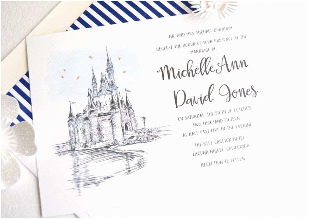 Castle Wedding Invitations Disney World Cinderella S Castle Fairytale Wedding