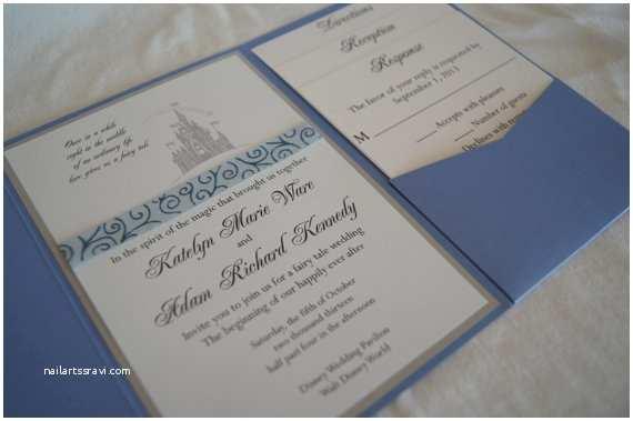 Castle Wedding Invitations Fairytale Castle Pocketfold Wedding Invitation by somerstudios