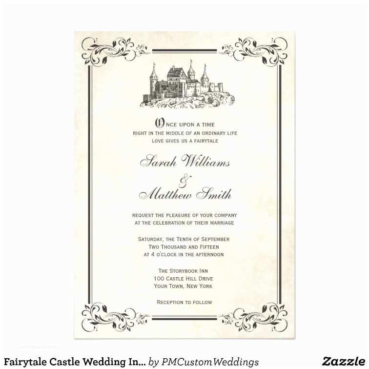 Castle Wedding Invitations Fairytale Castle Wedding Invitations
