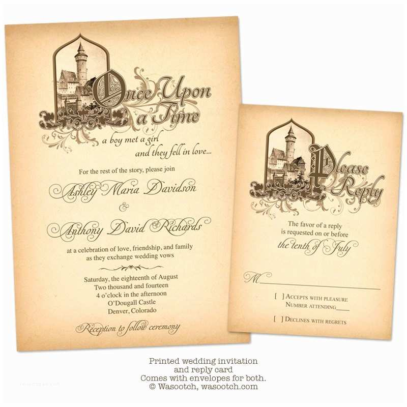 Castle Wedding Invitations Fairytale Ce Upon A Time Me Val Castle Wedding Invitation