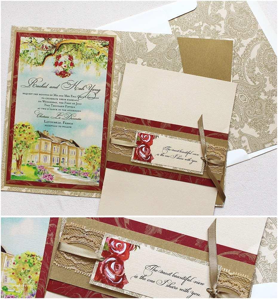 Castle Wedding Invitations Rachel C Personalized Wedding Day Accessoriesmomental