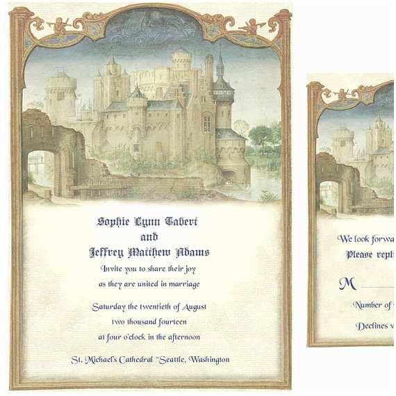 Castle Wedding Invitations Unavailable Listing On Etsy