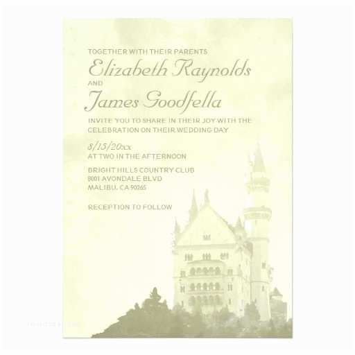 Castle Wedding Invitations Whimsical Fairytale Castle Wedding Invitations