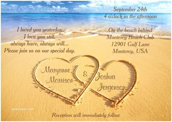 Casual Beach Wedding Invitation Wording 47 Examples Of Wedding Invitation Design Psd Ai