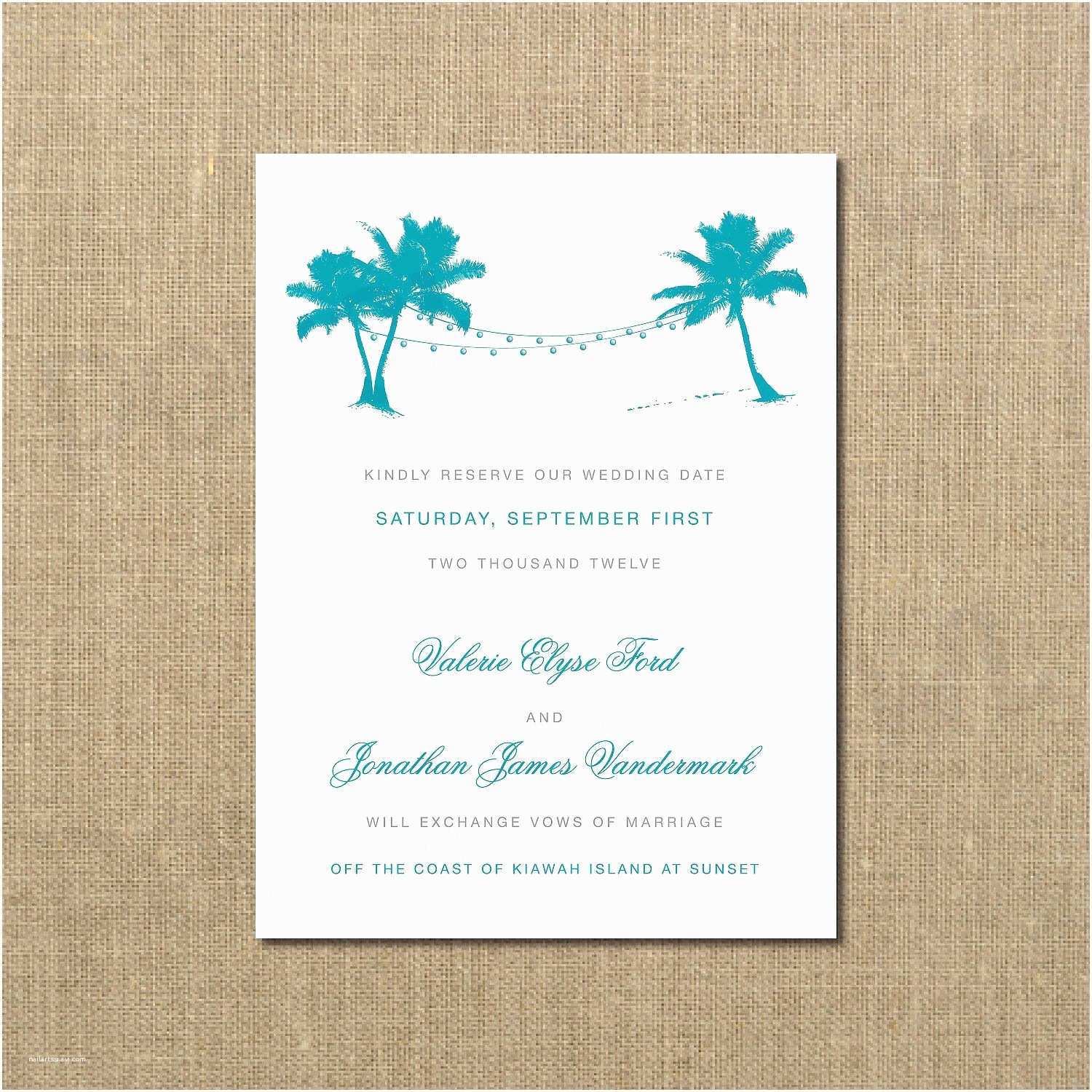 beach wedding invitation wording casual