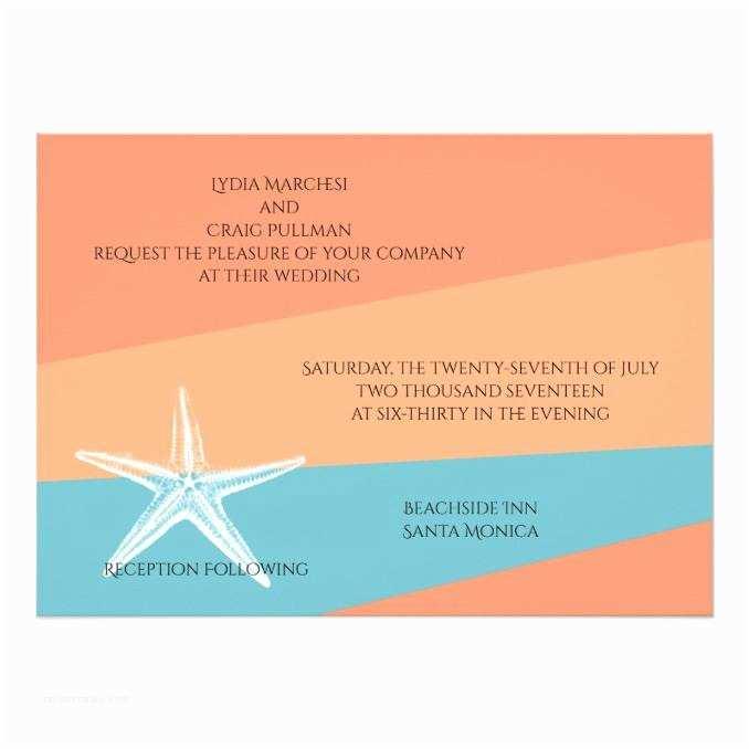 Casual Beach Wedding Invitation Wording Casual Beach Wedding Wedding Invitations