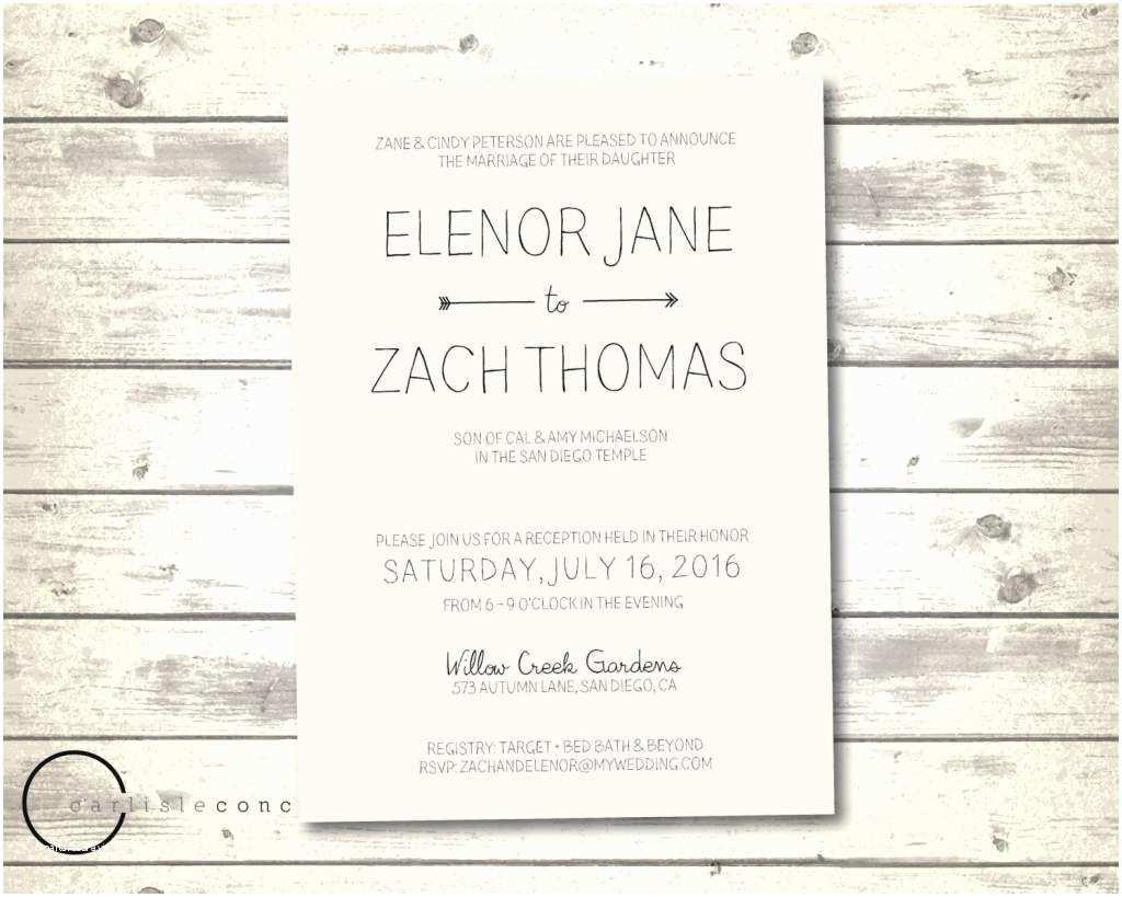 Casual Wedding Invitation Wording Casual Wedding Invitation Wording