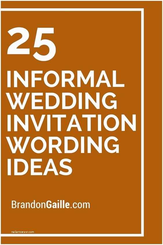 Casual Wedding Invitation Wording Wedding Invitation Wording Informal Weddings and