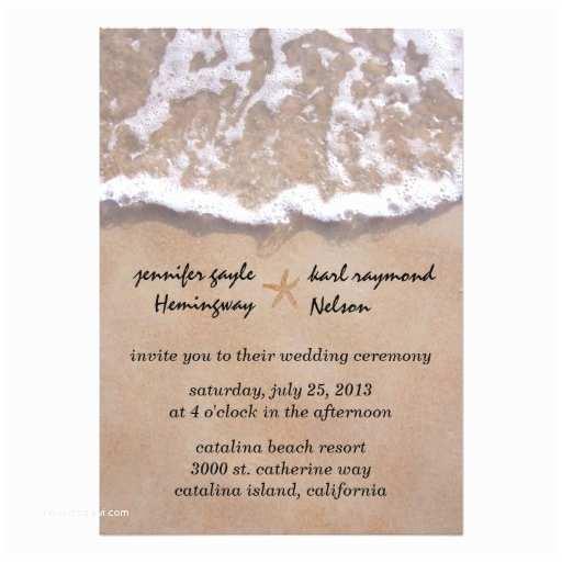 Casual Wedding Reception Invitations Casual Beach theme Wedding Invitation