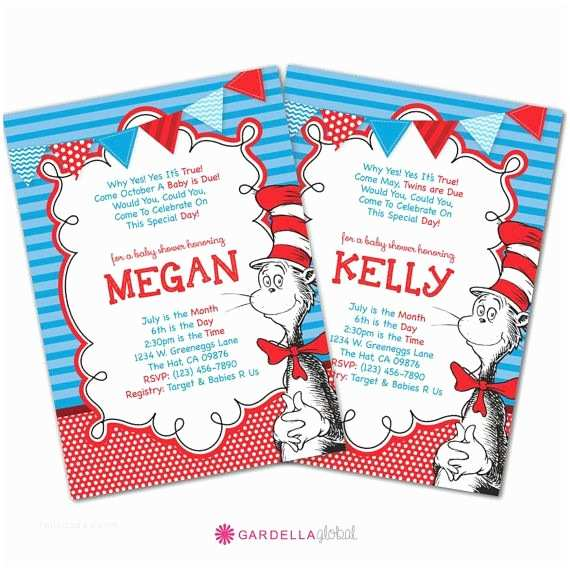 Cat In the Hat Baby Shower Invitations 1000 Images About Dr Seuss Printables On Pinterest