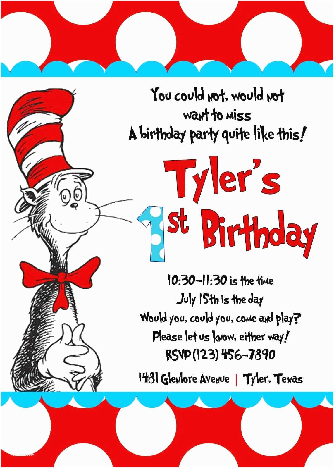 Cat In the Hat Baby Shower Invitations Cat In the Hat Invitations Template No2powerblasts