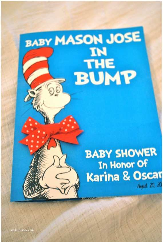 Cat In the Hat Baby Shower Invitations Dr Seuss Inspired Cat In the Hat Invitation