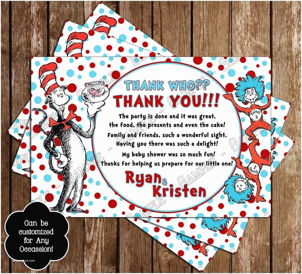 Cat In the Hat Baby Shower Invitations Novel Concept Designs Cat In the Hat Baby Shower Invitation
