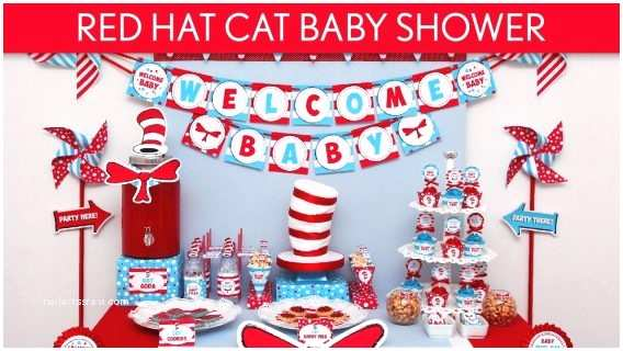 Cat In the Hat Baby Shower Invitations the Cat In the Hat Baby Shower