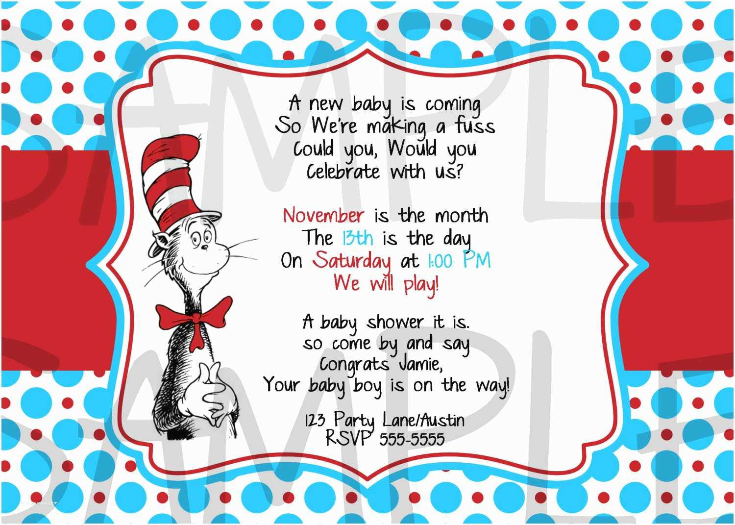 Cat In the Hat Baby Shower Invitations Unavailable Listing On Etsy