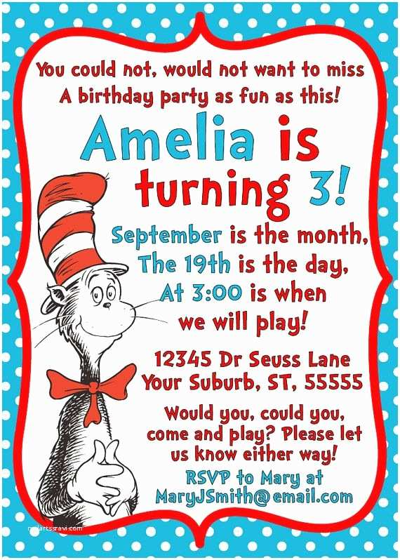 Cat In the Hat Birthday Invitations 25 Best Ideas About Dr Seuss Invitations On Pinterest