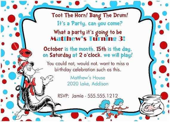 Cat In the Hat Birthday Invitations 79 Best Cat In the Hat Invite Images On Pinterest