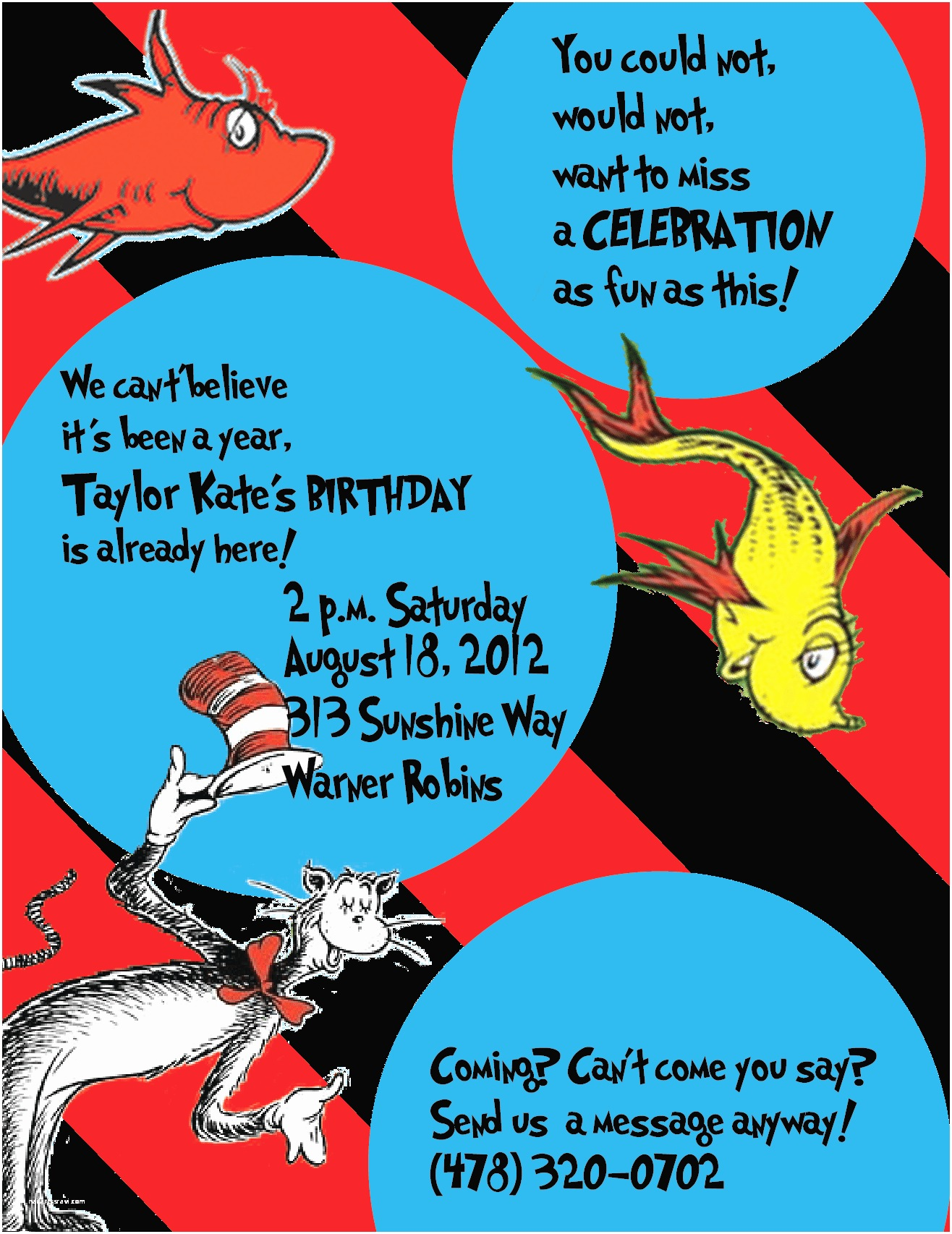 Cat In the Hat Birthday Invitations Boutwell Productions Blog Cat In the Hat Invitations