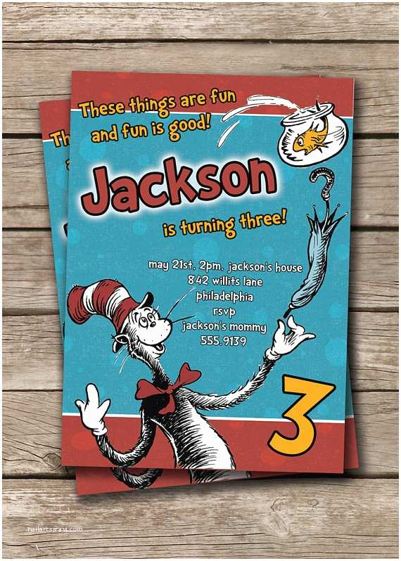 Cat In the Hat Birthday Invitations Unavailable Listing On Etsy