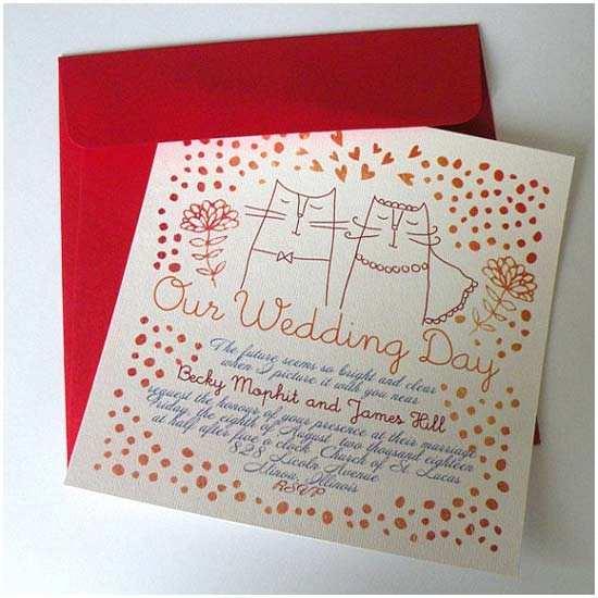 Cat Wedding Invitations Cat themed Wedding Ideas Inspiration & Details
