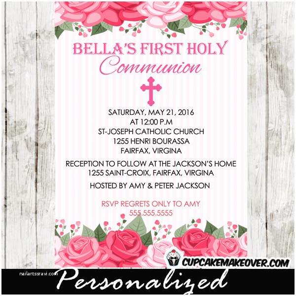 Catholic First Communion Invitations First Munion Invitation for Girls – orderecigsjuicefo