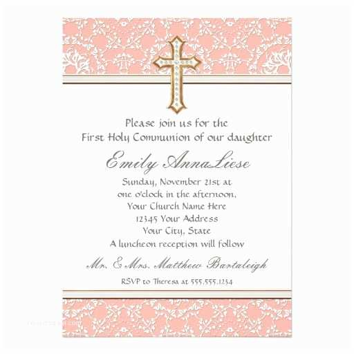 Catholic First Communion Invitations Personalized Catholic Invitations