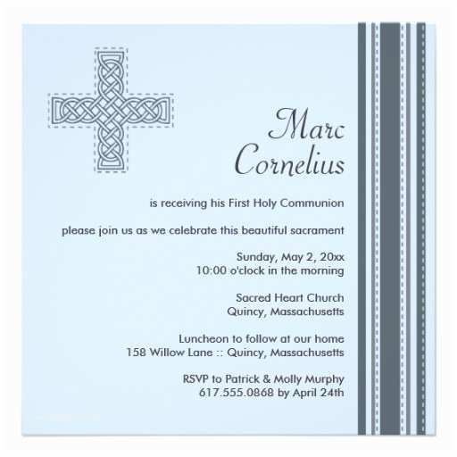 Catholic First Communion Invitations Personalized Catholic Invitations