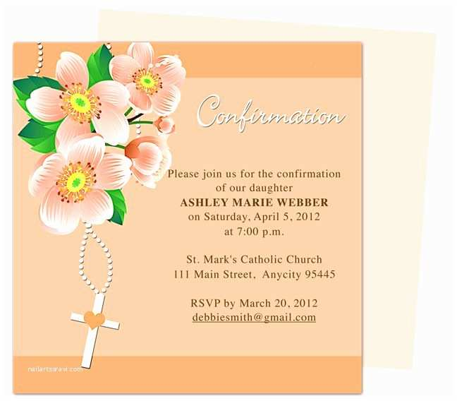 Catholic Wedding Invitation Wording Sacrament 17 Best Images About Confirmation Invitations On Pinterest