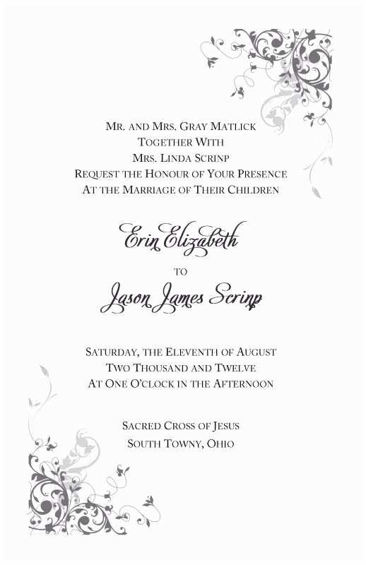 Catholic Wedding Invitation Wording Sacrament Catholic Wedding Invitation Wording