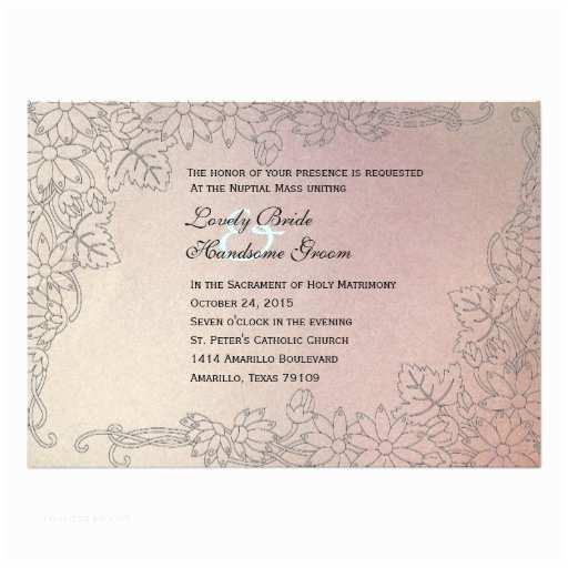 Catholic Wedding S Faded Lilac Catholic Wedding