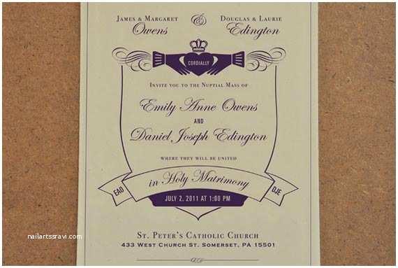 Catholic Wedding Invitations Goes Wedding Traditional Catholic And Irish