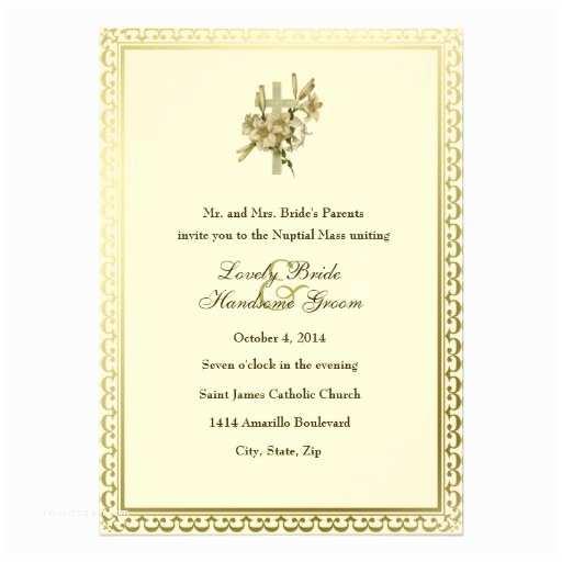 Catholic Wedding S Ivory Cross Lilies Catholic Wedding