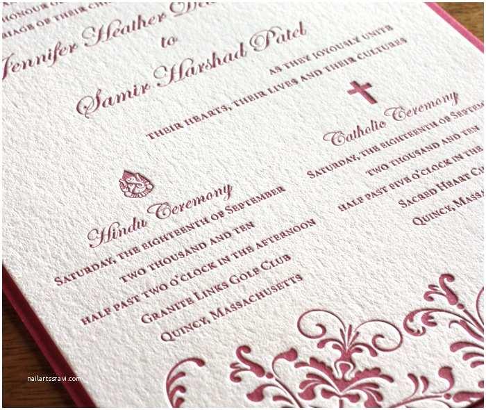 Wedding Invitations Religious Letterpress Wedding Invitation Cards