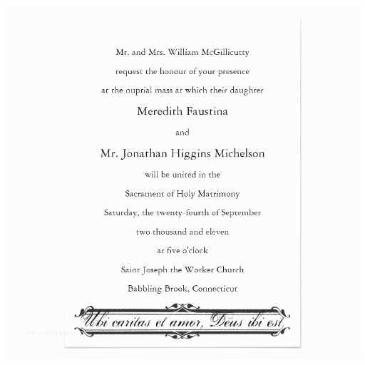 Catholic Wedding Invitations Wedding Invitation  Wedding Invitation